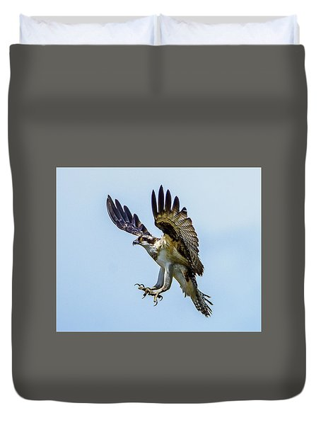 Suspended Osprey Duvet Cover by Jerry Cahill
