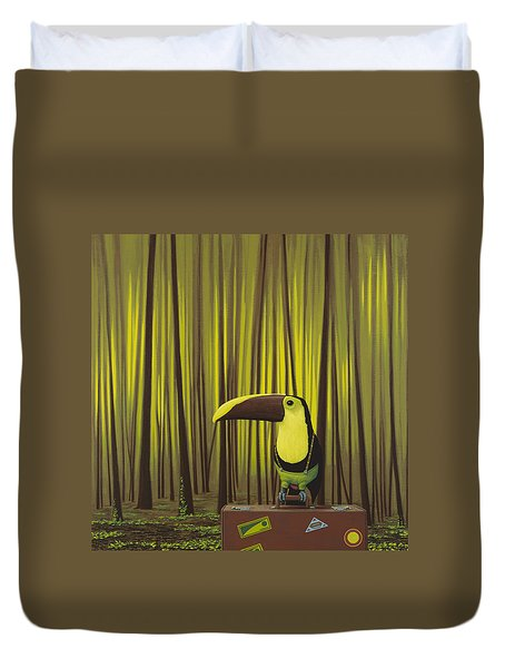 Suspenders Duvet Cover by Jasper Oostland