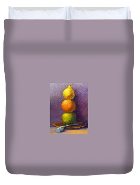 Suspenseful Balance Duvet Cover