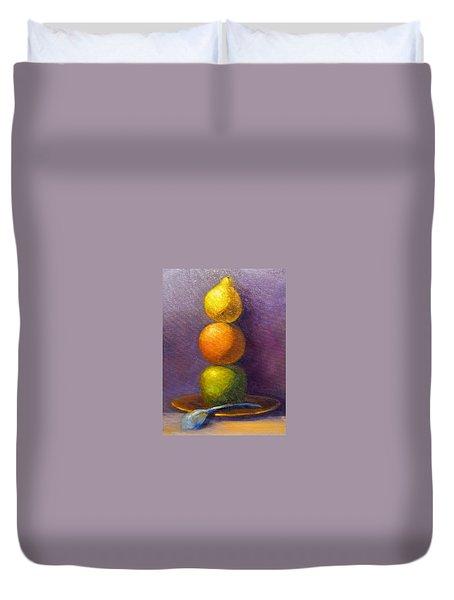 Suspenseful Balance Duvet Cover