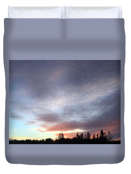 Suspenseful Skies Duvet Cover