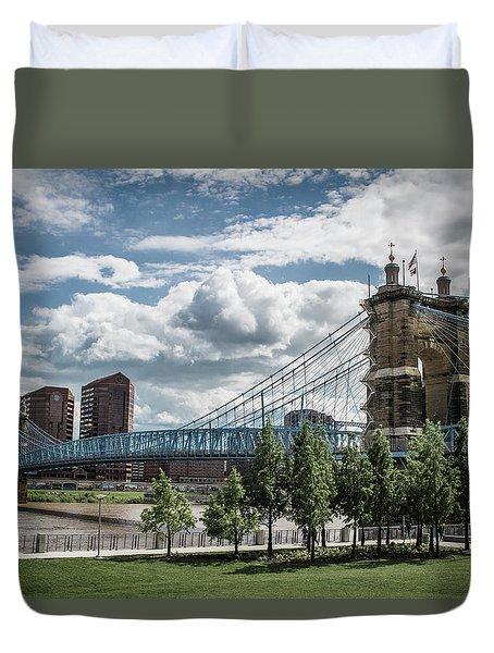 Suspension Bridge Color Duvet Cover by Scott Meyer