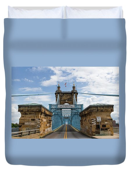 Suspension Bridge Wide Angel Duvet Cover by Scott Meyer