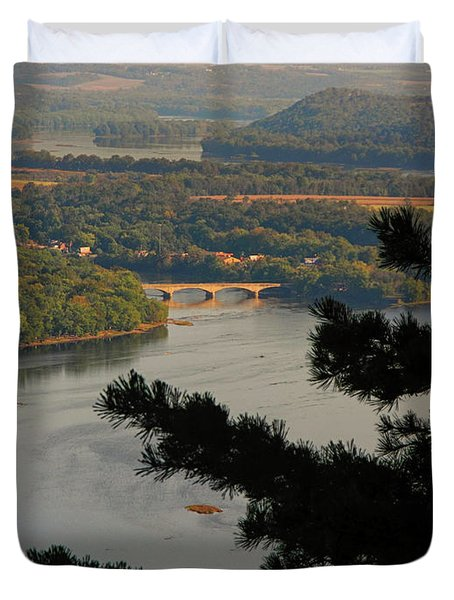 Susquehanna River Below Duvet Cover