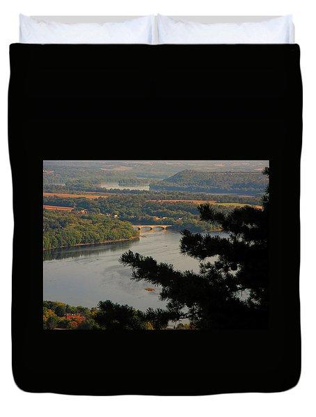 Susquehanna River Below Duvet Cover