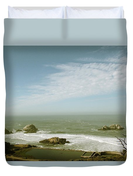 Sutro Baths San Francisco Duvet Cover