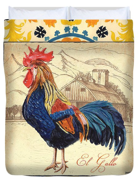 Suzani Rooster 1 Duvet Cover