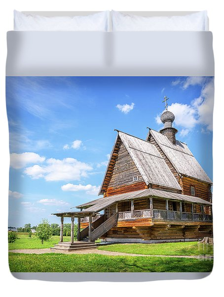 Duvet Cover featuring the photograph Suzdal by Delphimages Photo Creations