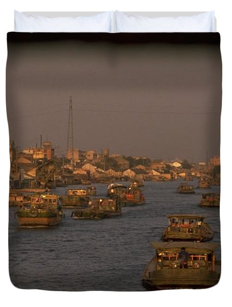 Duvet Cover featuring the photograph Suzhou Grand Canal by Travel Pics