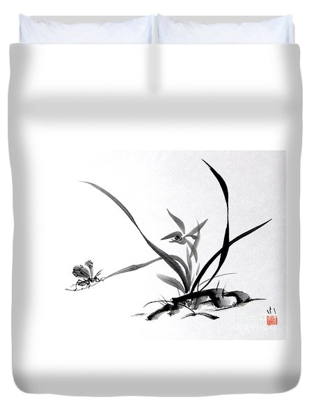 Suzumushi/ Sounds Of Fall Duvet Cover