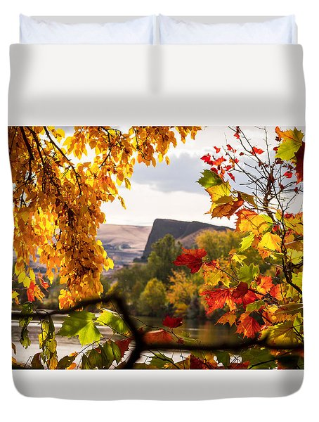 Swallow's Nest In The Fall Duvet Cover