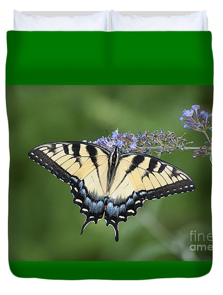 Duvet Cover featuring the photograph Swallowtail 20120723_24a by Tina Hopkins