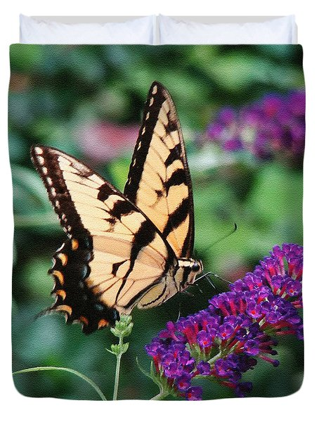 Swallowtail Butterfly 1 Duvet Cover by Sue Melvin