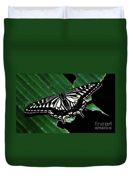 Swallowtail Butterfly- Close Duvet Cover