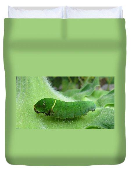 Swallowtail Caterpillar Duvet Cover