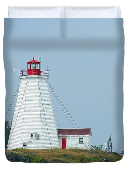 Swallowtail Lighthouse Duvet Cover by Thomas Marchessault