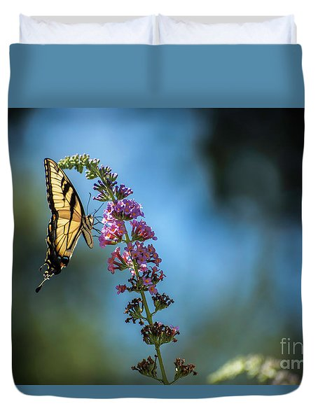 Swallowtail Lookout Duvet Cover by Judy Wolinsky