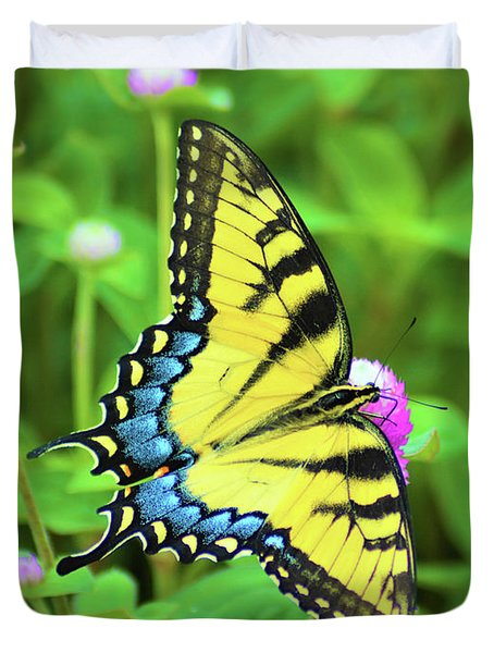 Swallowtail On Thistle Duvet Cover