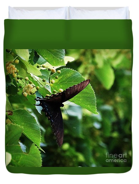 Duvet Cover featuring the photograph Swallowtail Summer by J L Zarek