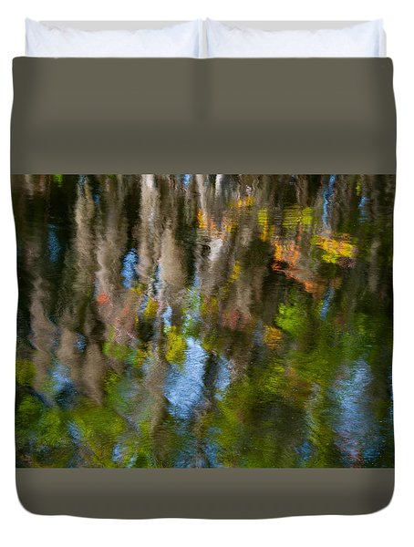 Swamp Colors Duvet Cover by Carolyn Dalessandro