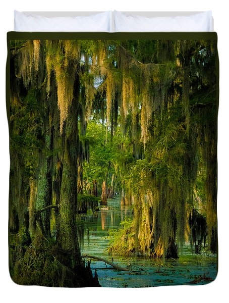 Swamp Curtains In May Duvet Cover