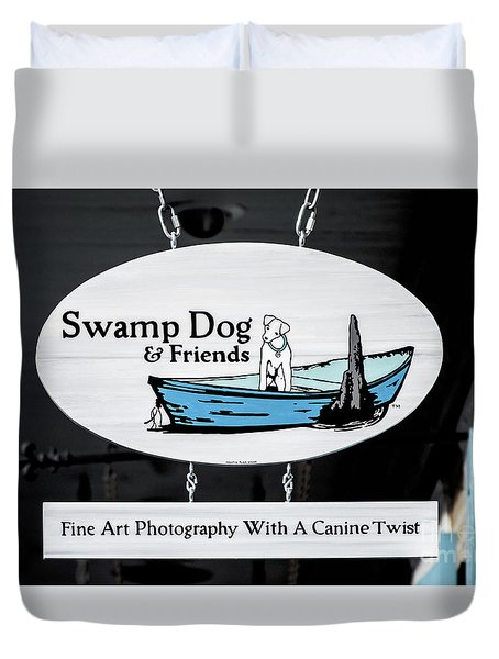Swamp Dog And Friends Duvet Cover