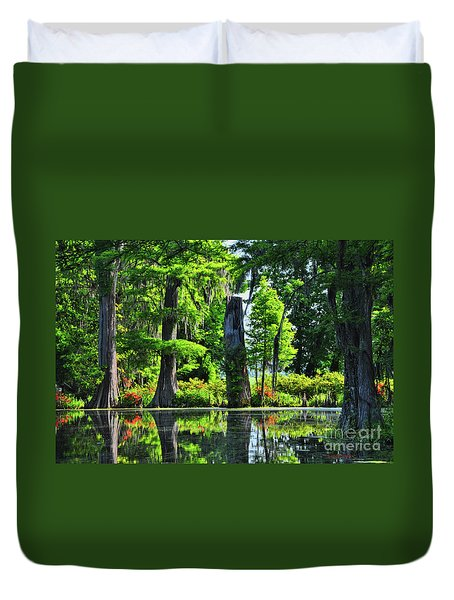 Swamp In Bloom Signed Duvet Cover
