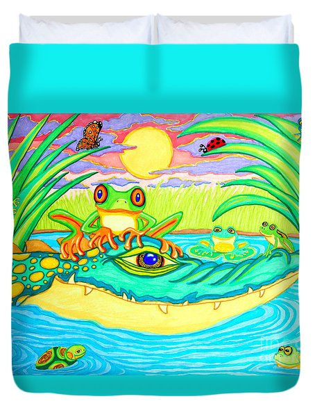 Swamp Life Duvet Cover by Nick Gustafson