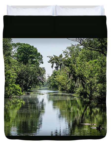Swamp Scene 1 Duvet Cover