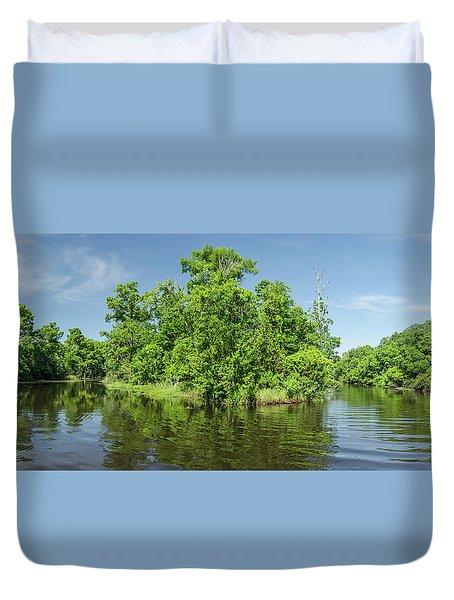 Swamp Scene Parorama Duvet Cover