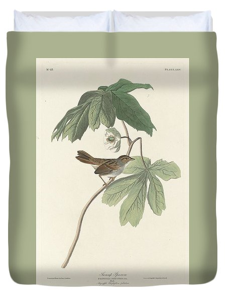 Swamp Sparrow Duvet Cover by Rob Dreyer