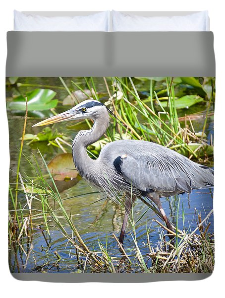Swamp Stomp Duvet Cover by Judy Kay