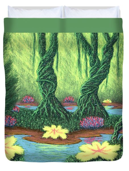 Swamp Things 02, Diptych Panel A Duvet Cover