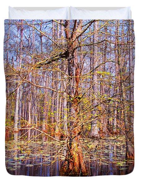 Swamp Tree Duvet Cover by Susanne Van Hulst
