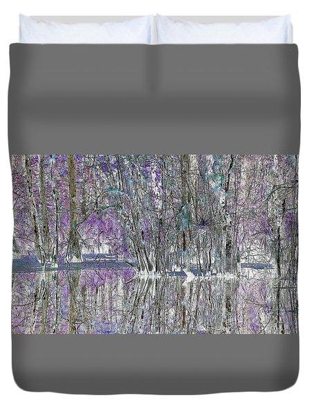Swampscape Duvet Cover