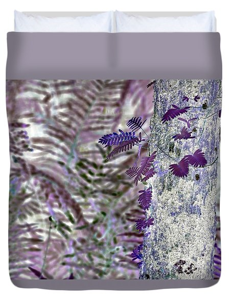 Ferns Of A Different Color Duvet Cover