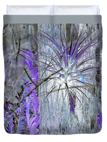 Glowing Air Plant Duvet Cover