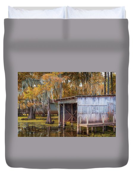 Swampy Dock  Duvet Cover