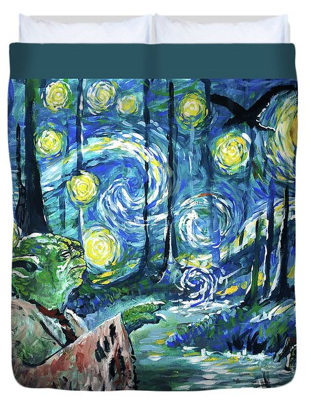 Swampy Night Duvet Cover by Tom Carlton