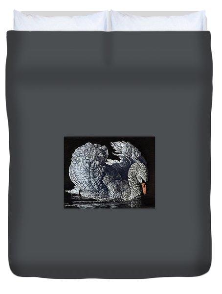 Swan #2 Duvet Cover
