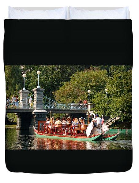 Swan Boats Duvet Cover