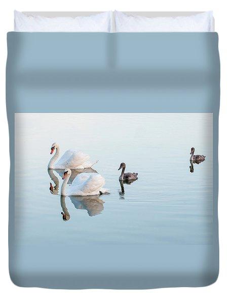 Swan Family Duvet Cover