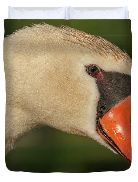 Swan Headshot Duvet Cover