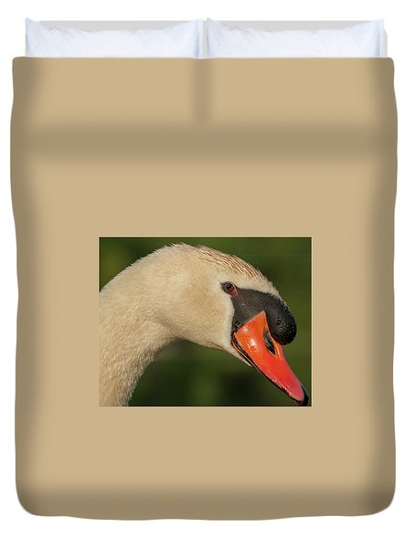 Swan Headshot Duvet Cover