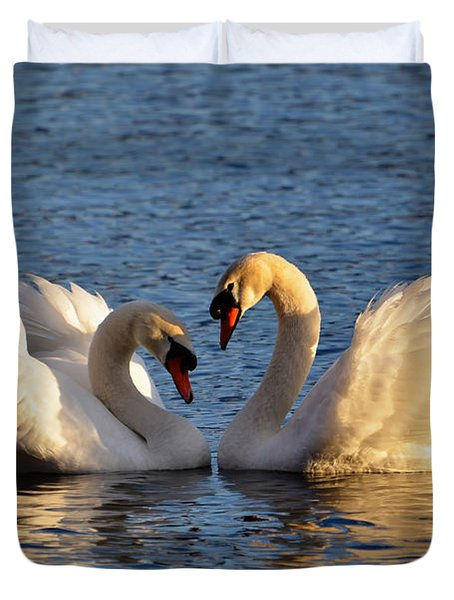 Swan Heart Duvet Cover by Mats Silvan
