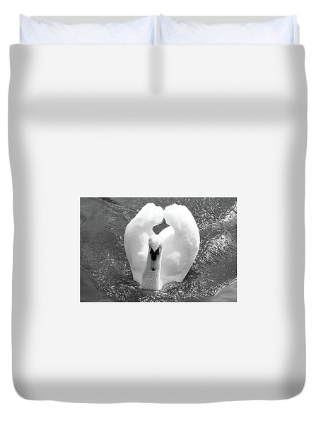 Swan In Motion Duvet Cover