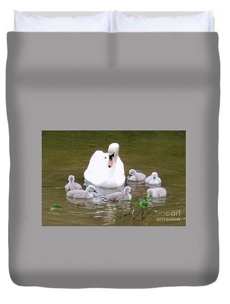 Swan Lake 1 Duvet Cover by Bill Holkham