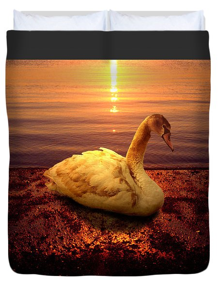 Swan Lake Duvet Cover by Yuri Lev