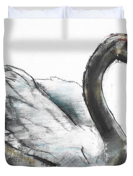 Swan Duvet Cover by Mark Adlington