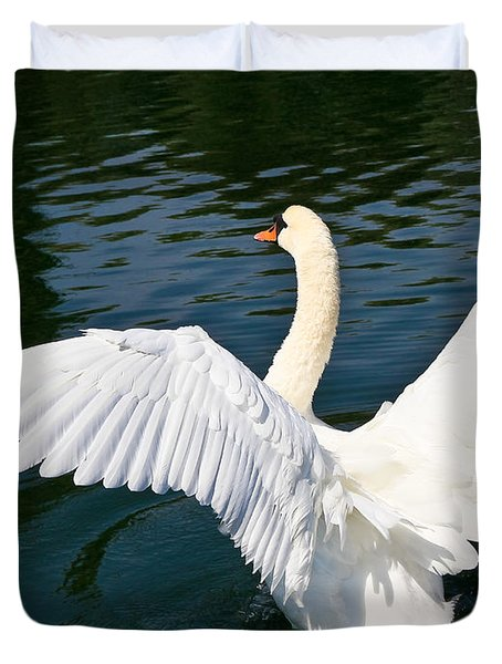 Swan Moment Duvet Cover